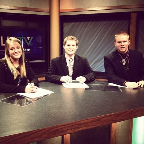 Steve, Brett and myself, the Sibley Day anchor team.
