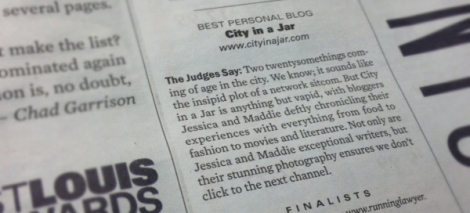 Jess Leitch won Best Personal Blog in 2012 by the RFT and Clique Web Awards // Photo Courtesy of City in a Jar